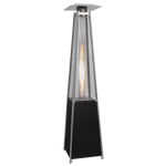 Tahiti Flame Heater Black 13kw Patio Heater